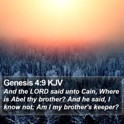 Genesis 4:9 KJV Bible Verse Image