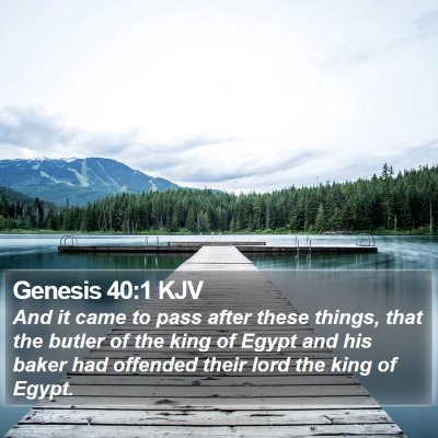 Genesis 40:1 KJV Bible Verse Image