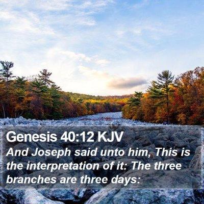 Genesis 40:12 KJV Bible Verse Image