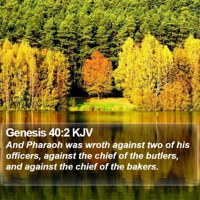 Genesis 40:2 KJV Bible Verse Image