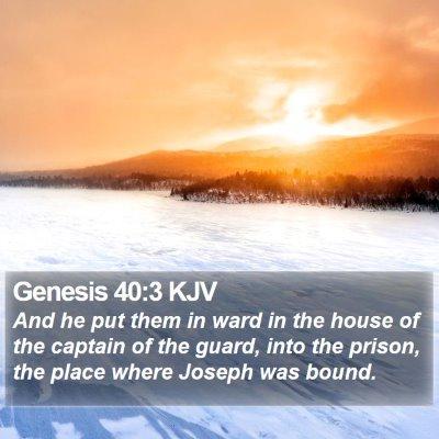 Genesis 40:3 KJV Bible Verse Image