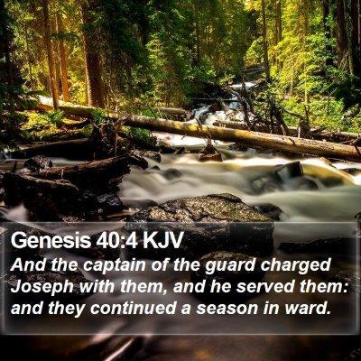 Genesis 40:4 KJV Bible Verse Image