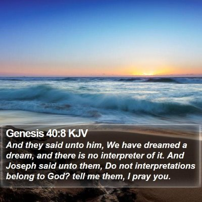 Genesis 40:8 KJV Bible Verse Image