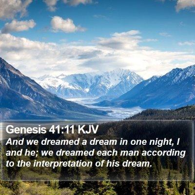 Genesis 41:11 KJV Bible Verse Image