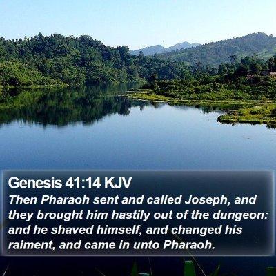 Genesis 41:14 KJV Bible Verse Image