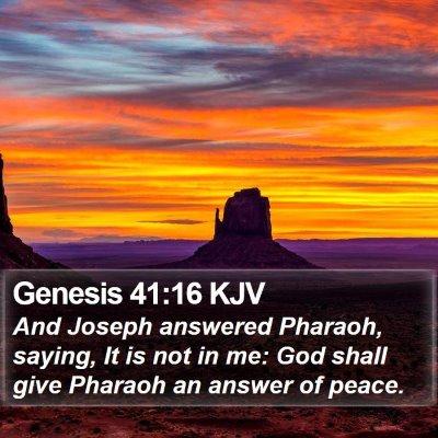 Genesis 41:16 KJV Bible Verse Image