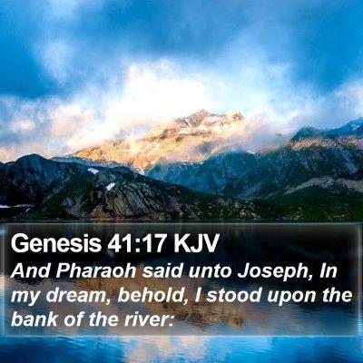 Genesis 41:17 KJV Bible Verse Image