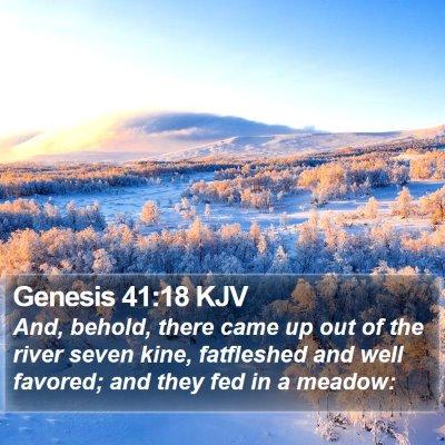 Genesis 41:18 KJV Bible Verse Image