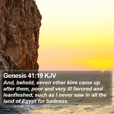 Genesis 41:19 KJV Bible Verse Image