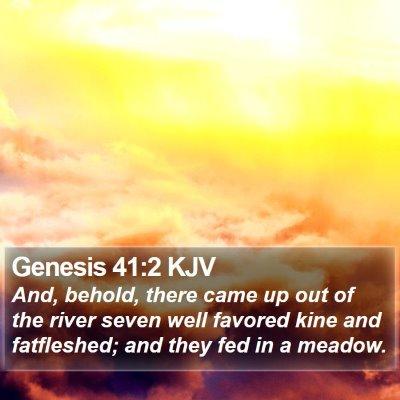 Genesis 41:2 KJV Bible Verse Image