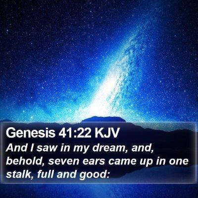 Genesis 41:22 KJV Bible Verse Image