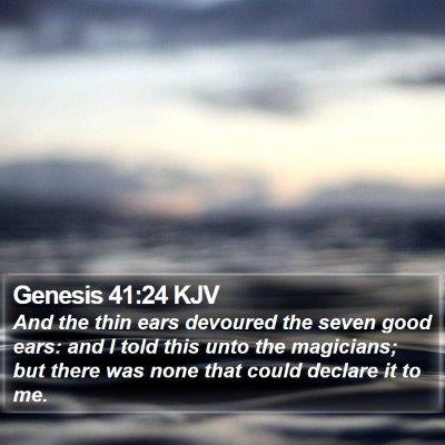 Genesis 41:24 KJV Bible Verse Image