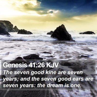 Genesis 41:26 KJV Bible Verse Image