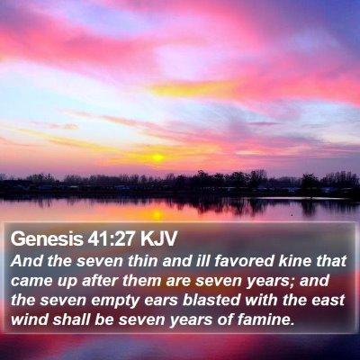 Genesis 41:27 KJV Bible Verse Image