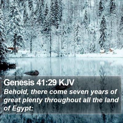 Genesis 41:29 KJV Bible Verse Image
