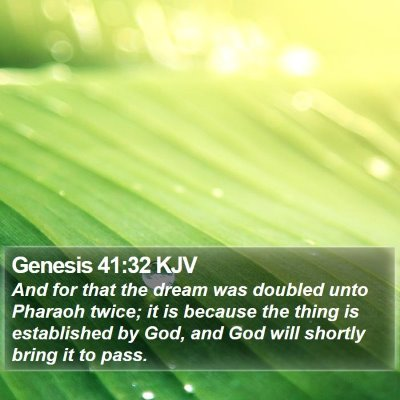 Genesis 41:32 KJV Bible Verse Image
