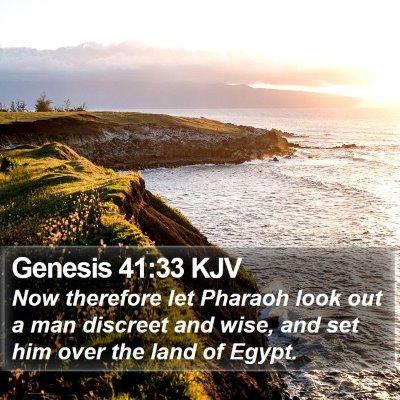 Genesis 41:33 KJV Bible Verse Image