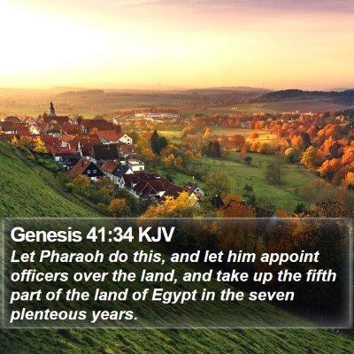Genesis 41:34 KJV Bible Verse Image