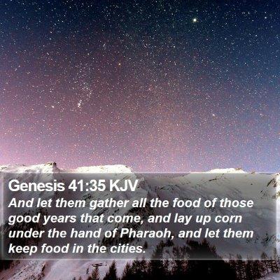 Genesis 41:35 KJV Bible Verse Image