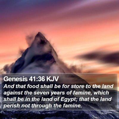 Genesis 41:36 KJV Bible Verse Image