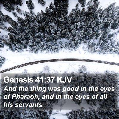 Genesis 41:37 KJV Bible Verse Image
