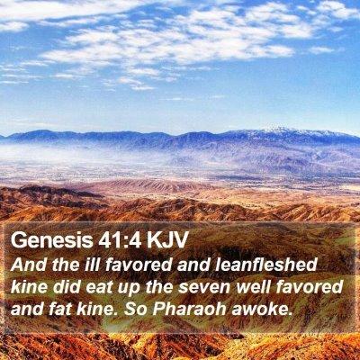 Genesis 41:4 KJV Bible Verse Image