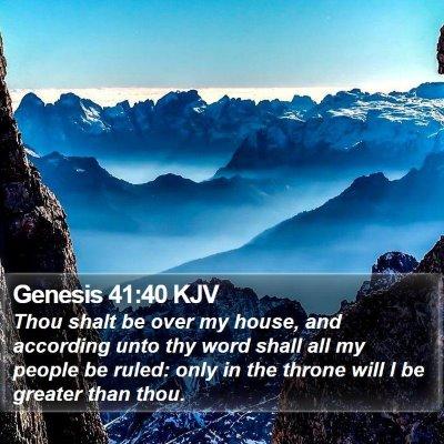 Genesis 41:40 KJV Bible Verse Image