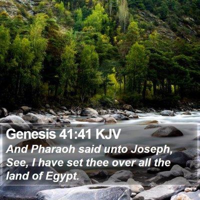 Genesis 41:41 KJV Bible Verse Image