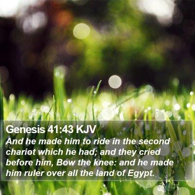 Genesis 41:43 KJV Bible Verse Image