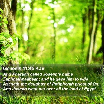 Genesis 41:45 KJV Bible Verse Image