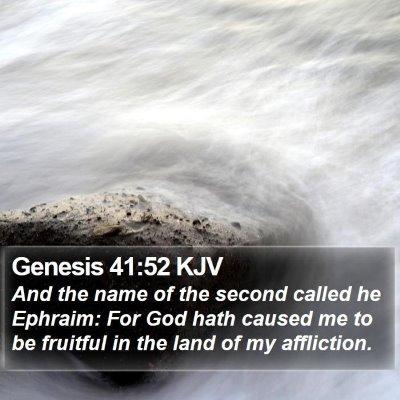 Genesis 41:52 KJV Bible Verse Image