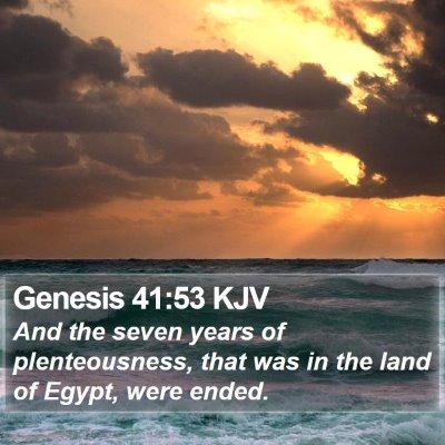 Genesis 41:53 KJV Bible Verse Image