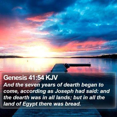 Genesis 41:54 KJV Bible Verse Image