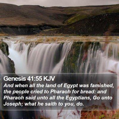 Genesis 41:55 KJV Bible Verse Image