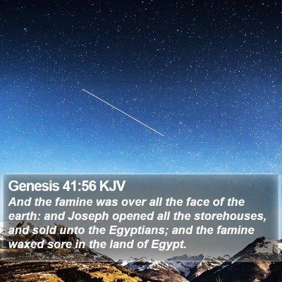 Genesis 41:56 KJV Bible Verse Image