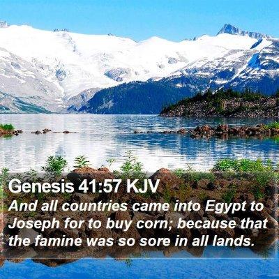 Genesis 41:57 KJV Bible Verse Image