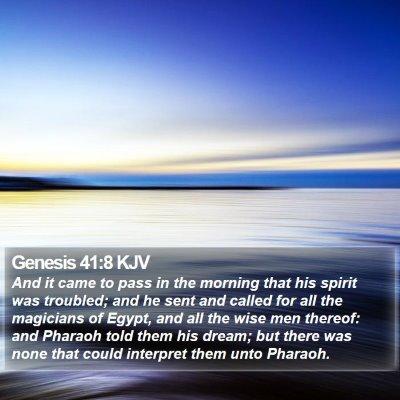 Genesis 41:8 KJV Bible Verse Image