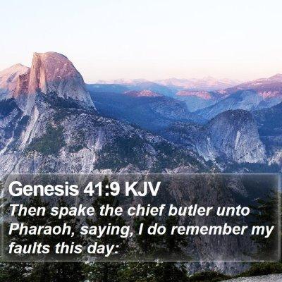 Genesis 41:9 KJV Bible Verse Image