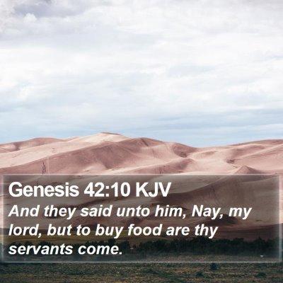 Genesis 42:10 KJV Bible Verse Image