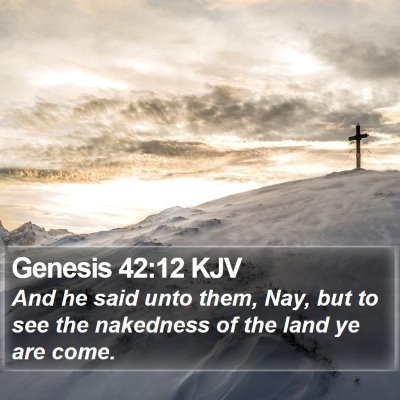 Genesis 42:12 KJV Bible Verse Image