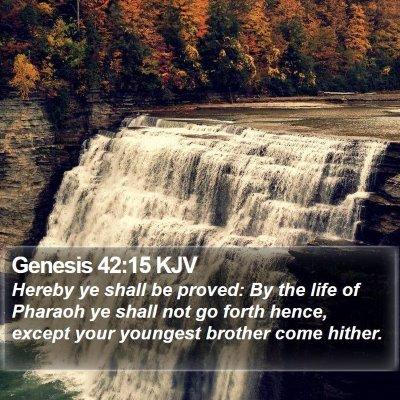 Genesis 42:15 KJV Bible Verse Image