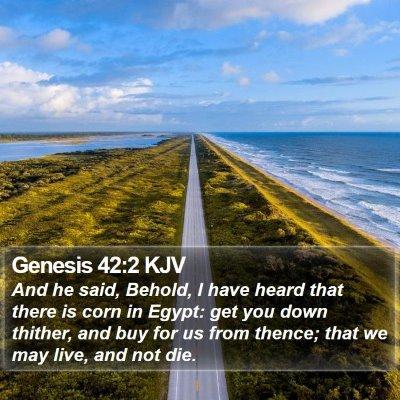Genesis 42:2 KJV Bible Verse Image