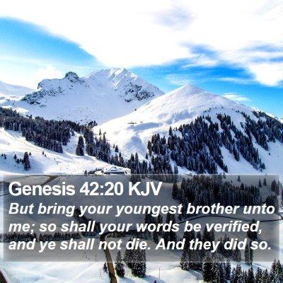 Genesis 42:20 KJV Bible Verse Image