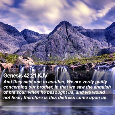 Genesis 42:21 KJV Bible Verse Image
