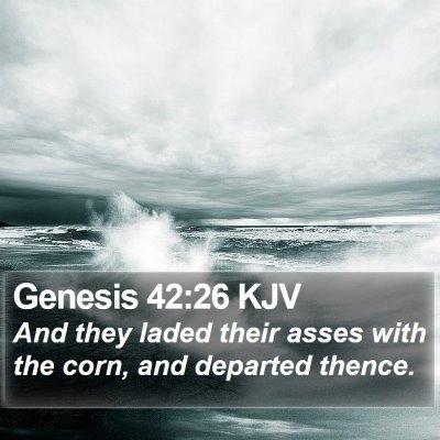 Genesis 42:26 KJV Bible Verse Image
