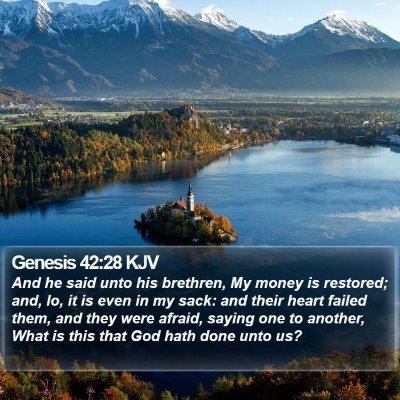 Genesis 42:28 KJV Bible Verse Image