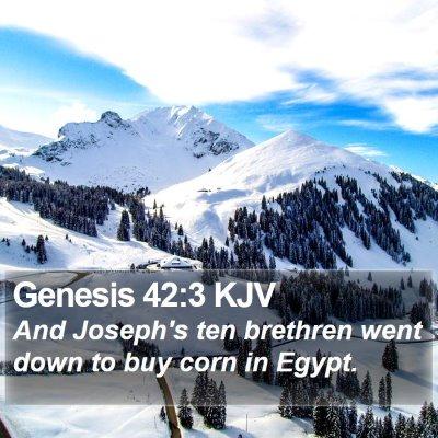 Genesis 42:3 KJV Bible Verse Image