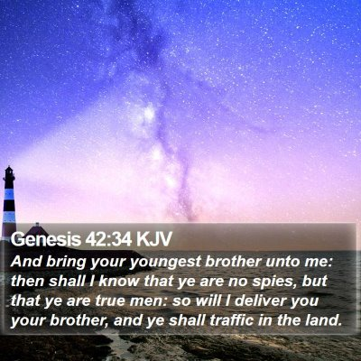 Genesis 42:34 KJV Bible Verse Image