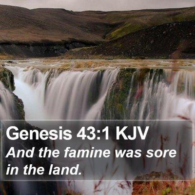 Genesis 43:1 KJV Bible Verse Image