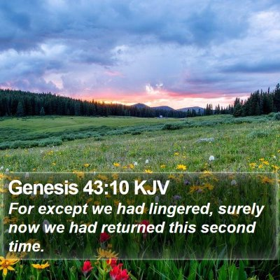 Genesis 43:10 KJV Bible Verse Image
